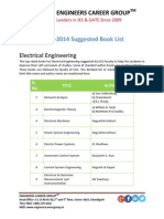 GATE Electrical Book List