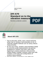 API 670 - Standard on to the vibration measurement