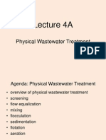 Ca4679 Lect - 4a Wastewater Treatment Physical
