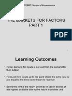 4 Input Markets