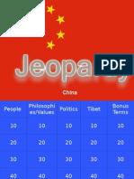 China Unit Test Review Jeopardy By Lindy McBratney