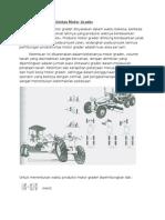 Perhitungan Produktivitas Motor Grader