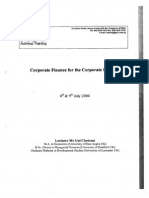 1. Corporate Finance for the Corporate Engineer