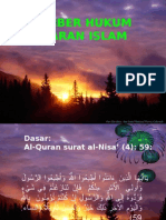 Sumber Hukum Ajaran Islam