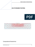 Elastic Analysis of Drained Footing