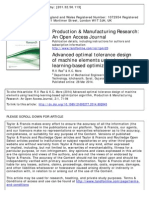 Advanced Optimal Tolerance Design of Machine Elements Using Teaching Learning Based Optimizatrion Algorithm