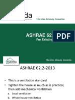 Ashrae IAQ for Existing Residential