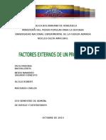 Factores Externos de Un Proyecto