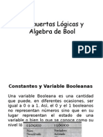 Compuertas Lógicas y Algebra Booleana