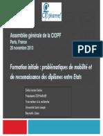 1.3. Formation Initiale - Mobilité Et Reconnaissance Des Diplômes (Dolla SARKIS)