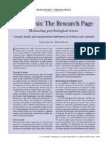 Measuring of Psychological Stress
