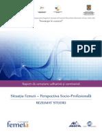 Rezumat Studiu Situatia Femeii - Perspectiva Socio Profesionala