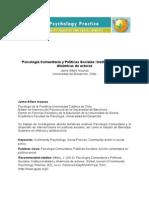 Alfaro_Psicologí Comunitaria y Políticas Sociales_Institucionalidad y Dinámica de Actores