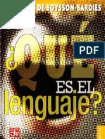 De Boysson-Bardies, Benedicte - Qué es el lenguaje.PDF