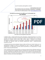 O precoce fim do bônus demográfico no Brasil