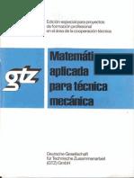 Gtz Matemática Aplicada Para Técnica Mecánica
