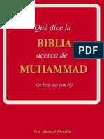Que Dice La Biblia Acerca de Muhammad