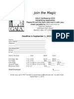 Join The Magic GALA Conference 2015 Advertising Application