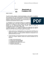 Práctica 11 Maquinado en Fresadora CNC-1