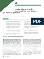 Principios Básicos de Oxigenoterapia en Situación Aguda y Crónica Para Médicos de Atención Primaria
