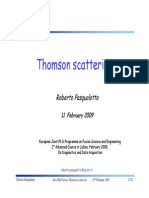 Thompson Scattering
