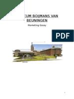 Boijmans Marketing Essay