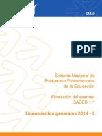 Lineamientos Generales SABER 11 2014 -2