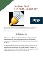 Yemeni Warplane Fleet Destroyed in Raids, Saudis Say