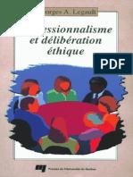 Professionnalisme Et Deliberation Ethique