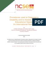5 NCSE Needs Assessment Procedures