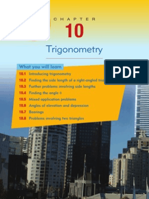 Trigonometry: What you will learn