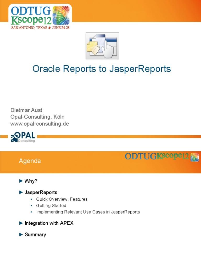 Jasper Reports | Pl/Sql | Oracle Database