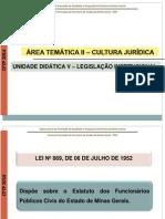 Legislação Institucional - Aula