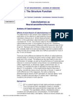 The Structure Function Actions of Catecholamines