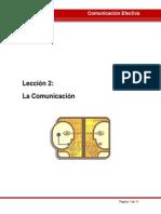 LECCIÓN 2 La Comunicación