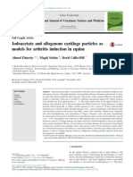 Iodoacetate and allogenous cartilage particles as models for arthritis induction in equine