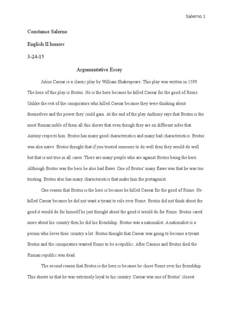 julius caesar obituary essay