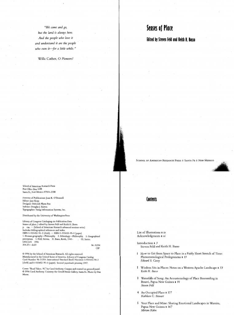 Senses Of Place Ethnography Phenomenology Philosophy Diagram Boat Wiring Massey Ferguson Parts Diagrams Overhead