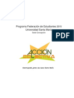 Programa Lista Acción Colectiva-FEUTFSM-2015