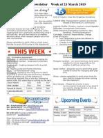 newsletter week of 230315