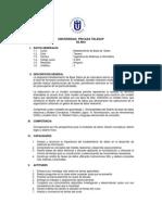 Modelamiento de Base de Datos (Sílabo)