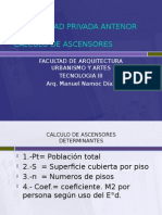 Calculo de Ascensores