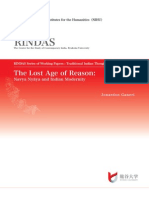 The Lost Age of Reason