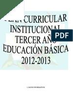 3º p.c.i. de Tercero de Basica 2012-2013