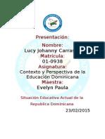 Situación Educativa Actual de la República Dominicana