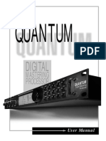 DBX Quantum Digital Mastering Processor User Manual