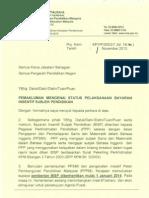 Surat Siaran Pemberhentian BISP