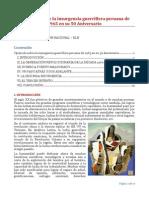 Opúsculo Sobre La Insurgencia Guerrillera Peruana de 1965 en Su 50 Aniversario