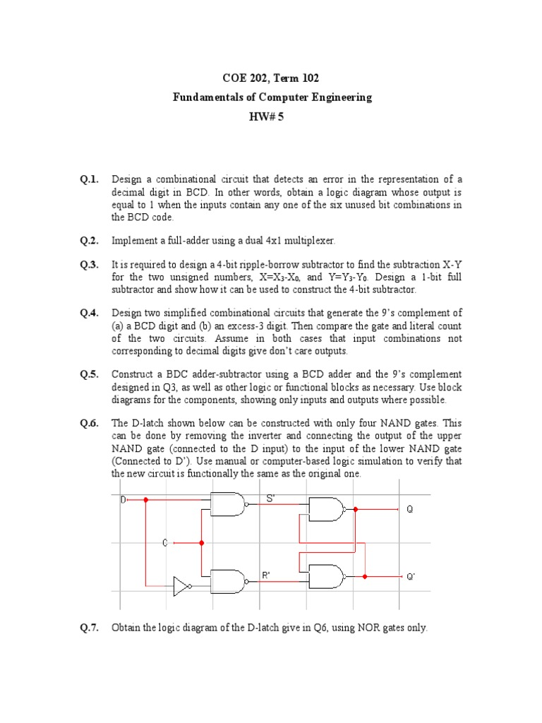 Hw5 Solutions Mat1348 Electronic Engineering Digital Electronics Adder And Subtractor Circuits Are Used To Other