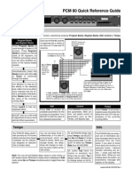 Lexicon PCM80 Quick Reference Guide